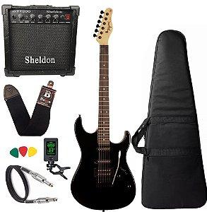Kit Guitarra Tagima Tg510 Preto Bk Tw Series Amplificador Sheldon