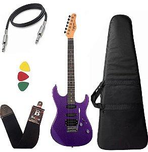 Kit Guitarra Tagima Tg510 Roxo Metálico Mpp DF Capa Bag
