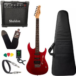 Kit Guitarra Tagima Tg510 Vermelho Ca Amplificador Sheldon