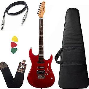 Kit Guitarra Tagima Tg510 Vermelho Ca Tw Series Capa Cabo