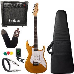 Kit Guitarra Tagima Tg520 Dourado Gold Amplificador Sheldon