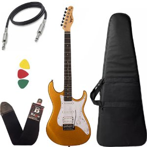 Kit Guitarra Tagima Tg520 Dourado Metallic Gold Capa Bag