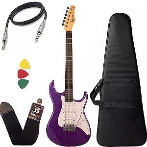 Kit Guitarra Tagima Tg520 Roxo Metálico Capa Bag