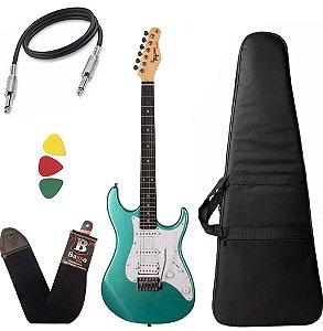 Kit Guitarra Tagima Tg520 Verde Metálico Msg Capa Cabo