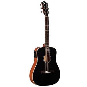 Violão Tagima Baby Tw15 preto Woodstock Elétrico Aço
