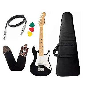 Kit Guitarra Criança Infantil Elétrica Phx Isth 1/2 Preto Capa