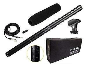 Microfone Direcional Com fio Ksr Pro Kt81 Shotgun Boom