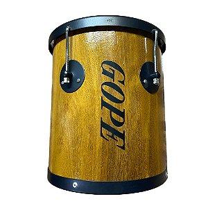 Repique De Mão Gope Madeira brilhante 10Pol x 30cm Lme3010rm