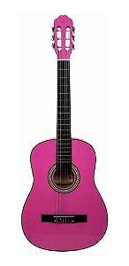 Violão Vogga Acustico Nylon Vca105n Rosa Pink