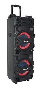 Caixa Som Amplificada Amvox Trovão Bluetooth 1000w Led Color