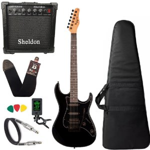 Kit Guitarra Tagima Tg520 Preto BK Amplificador Sheldon
