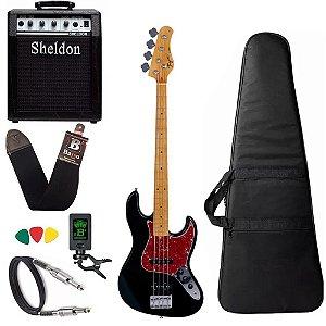 Kit Baixo Tagima Woodstock Tw73 Preto Amplificador Sheldon
