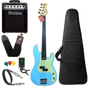 Kit Baixo Tagima Memphis Mb40 Azul Sonic Blue Amplificador Sheldon