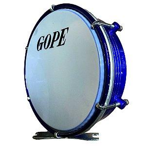 Tamborim Gope 6 Pol Azul Selfie Alumínio Corpo Frisado 595ALSA
