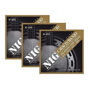 Kit 3 Encordoamento NIG Cavaco E Banjo N455 011 028 Com Bolinha