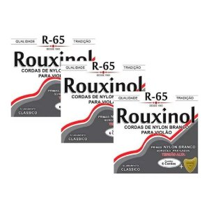 Kit 3 Encordoamentos Rouxinol  Violão Nylon Tensão Alta R65