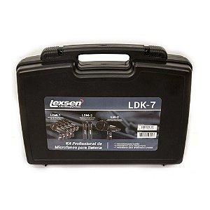 Kit 7 Microfones Lexsen Para Bateria Ldk7 Clamps Case