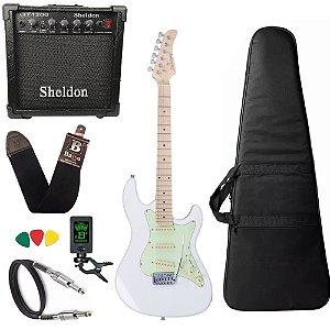 Kit Guitarra Strinberg Sts100 Wh Branco Stratocaster GT1200