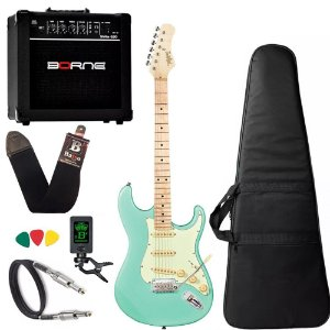Kit Guitarra Tagima T635 Surf Green Clara Mg Cubo Borne