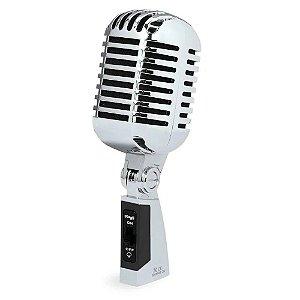 Microfone Stagg Sdmp 40 Cr Dinâmico Cardióide Vintage