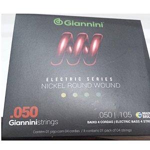 Encordoamento Giannini Contra Baixo 4 Cordas 050/105 GEEBRSX