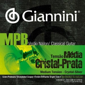 Encordoamento Giannini Violão Nylon Mpb Cristal-Prata GENWS