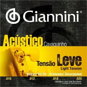 Encordoamento Giannini Cavaquinho Bronze Leve 65/35 GESCLA