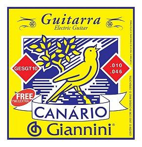 Encordoamento Giannini Canário Guitarra 010 GESGT10