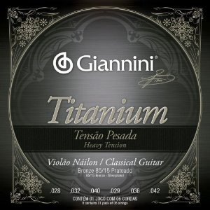 Encordoamento Giannini Violão Nylon Titanium Pesada GENWTA