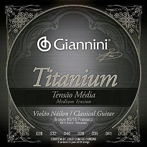 Encordoamento Giannini Violão Nylon Media Titanium GENWTM