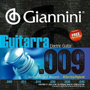 Encordoamento Giannini Guitarra Híbrida 009 046 GEEGSTH 9