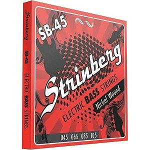 Encordoamento Strinberg Para Contra Baixo 4 Cordas SB45 045
