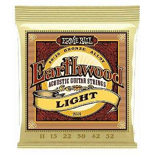 Encordoamento Ernie Ball Violão Aço 11 Earthwood Light 2004