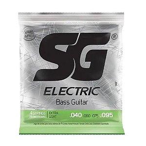 Encordoamento SG Baixo 4 Cordas 040/095 Níquel Extra Light 5107