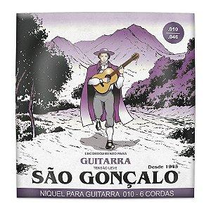 Encordoamento São Gonçalo Guitarra 010 Níquel Tensão Leve 11027