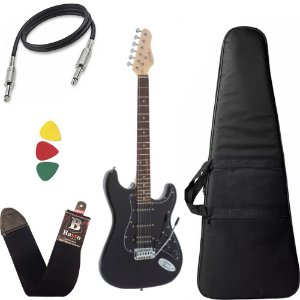 Kit Guitarra Giannini G101 Preto Bk Humbucker 2 Singles Capa