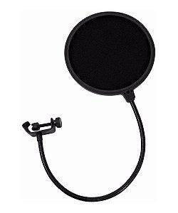 Pop Filter Protetor para Microfone Mxt Pfm01 Anti-Puff Estúdio