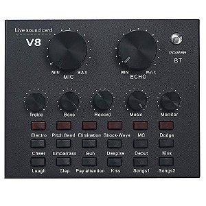 Placa de Interface De Áudio Mxt Bluetooth Live Stream Mx-V8
