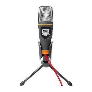 Microfone com fio Mxt Condensador com Tripé Plug P2 Mxmc017
