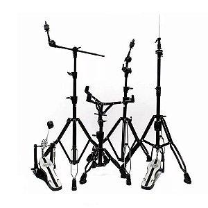Kit de Ferragens Mapex HP6005EB Black Plated - 2 estante girafa caixa pedal