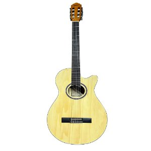Violão Nylon Giannini Gnf1d Ceq Natural Brilhante Mini Jumbo