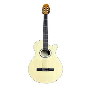 Violão Nylon Giannini Gnf1d Ceq Natural Fosco Mini Jumbo