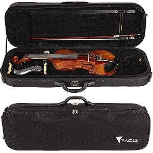 Violino Eagle Vk644 4/4 Envelhecido Case Breu Arco Espaleira