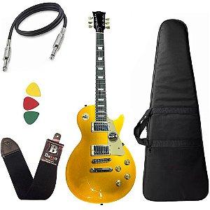 Kit Guitarra Michael GM750N Dourado GD Les Paul Capa