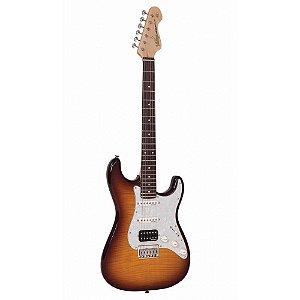 Guitarra Vintage V6HH Ftb Flamed Tobacco Burst hss regulado