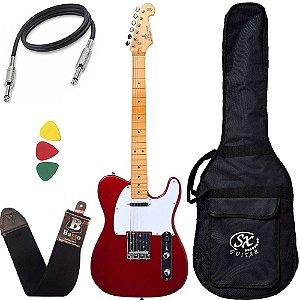 Guitarra Sx Stl50 telecaster Vintage vermelha Candy Capa