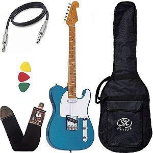 Guitarra Sx Stl50 telecaster Vintage Azul Lake Pacific Capa