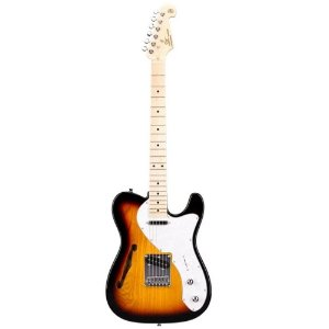 Guitarra Sx stlh Telecaster Thinline Sunburst ash regulado