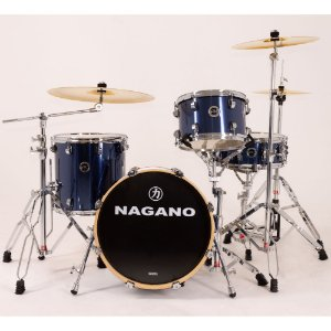 Bateria Nagano World Be bop azul blue race bumbo 18 cx 14