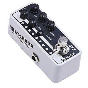 Pedal Mooer Matchbox M013 Preamp Guitarra som de valvulado